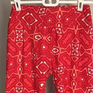 LuLaRoe Red Heart Pants